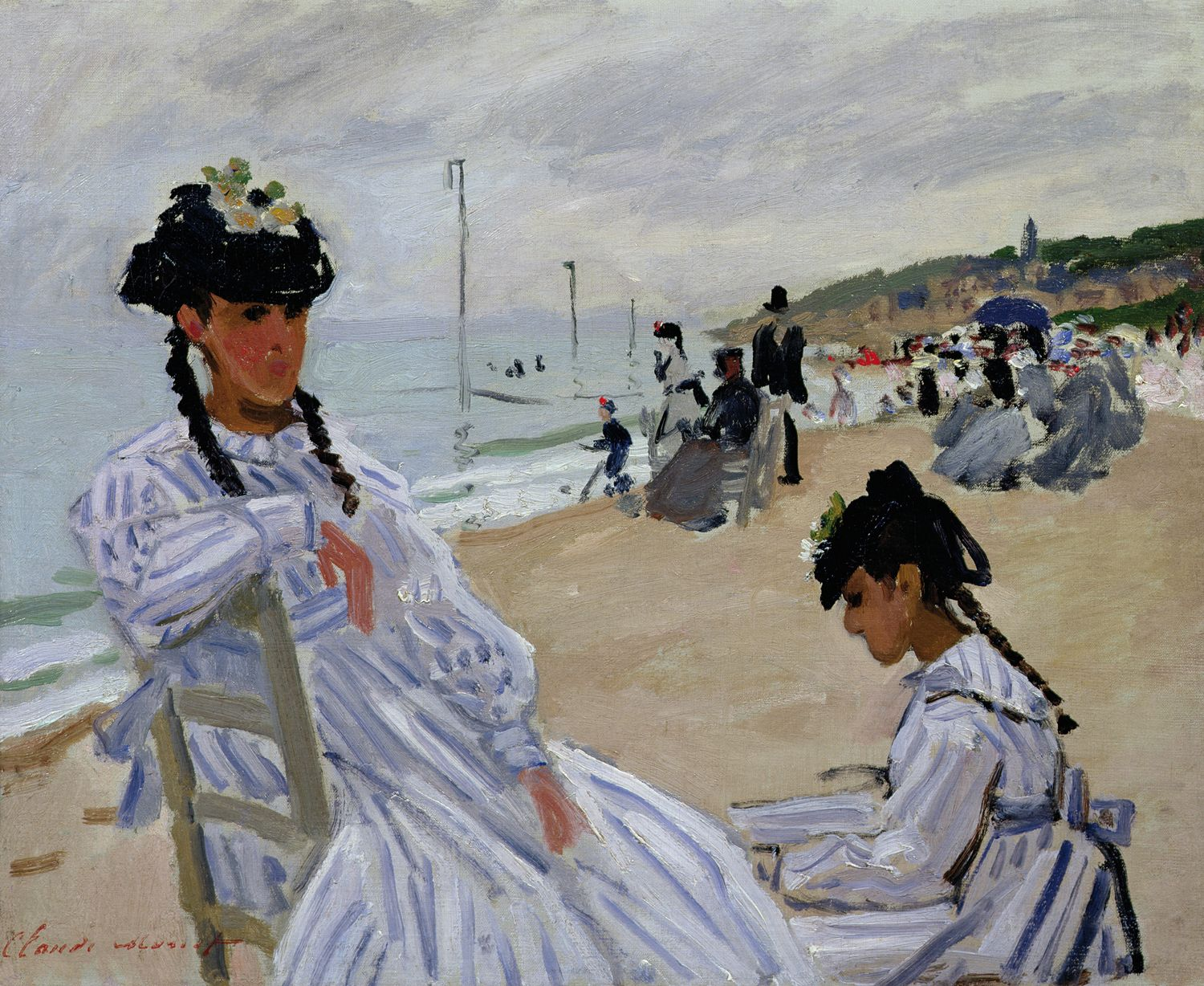Claude Monet/Am Strand von Trouville, 1870/Öl auf Leinwand/ Museé Marmottan Monet, Paris/© Musée Marmottan Monet, Paris/ Bridgeman Images