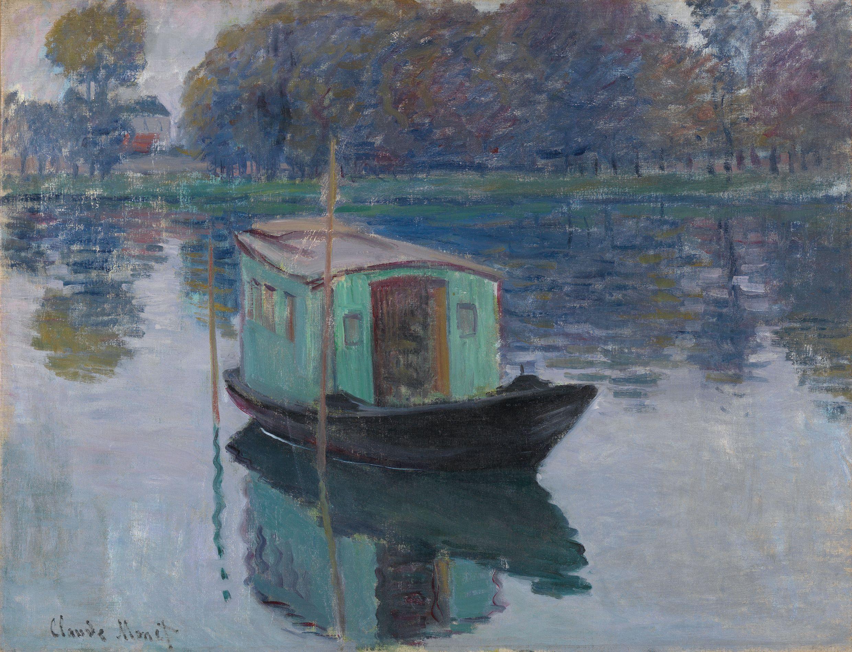 Claude Monet/Das Atelierboot, 1874/Öl auf Leinwand/Sammlung Kröller-Müller Museum, Otterlo/© Kröller-Müller Museum, Otterlo