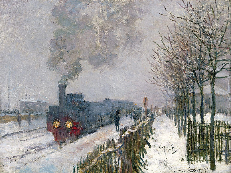 Claude Monet/Eisenbahn im Schnee, Lokomotive, 1875/Öl auf Leinwand/Musée Marmottan Monet, Paris/© Musée Marmottan Monet, Paris / Bridgeman Images