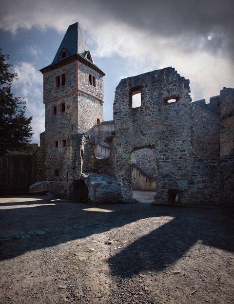 Burg Frankenstein bei Darmstadt(Deutschland)
